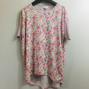 Lularoe Irma tunic top. Pink/Purple. Size XXS